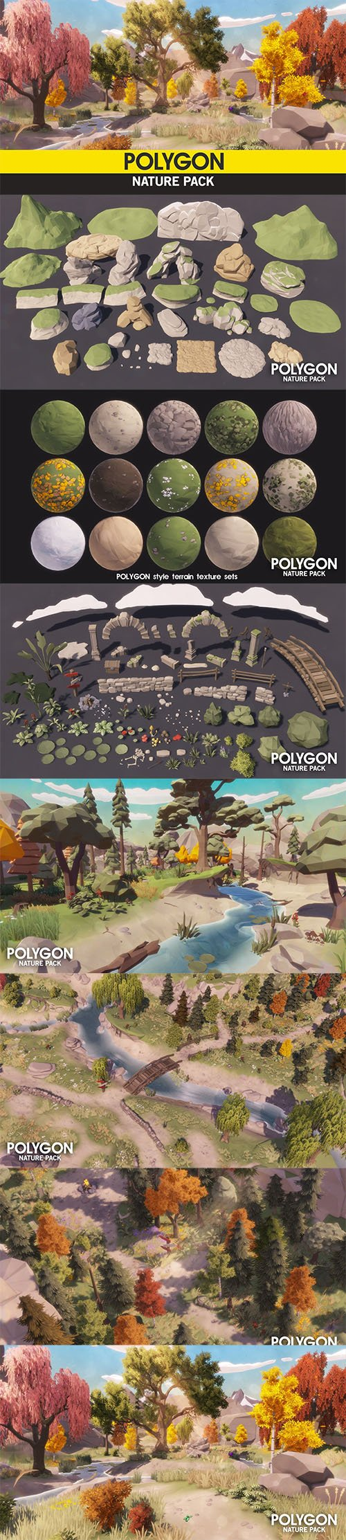 POLYGON - Nature Pack Low-poly 3D model