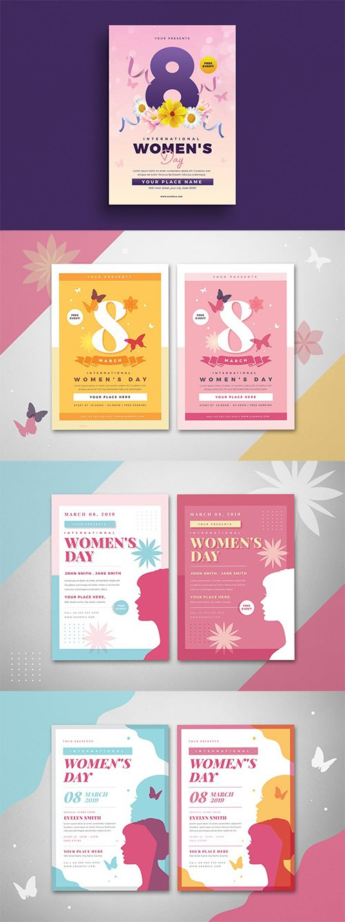 PSD Womens Day 4 Flyers