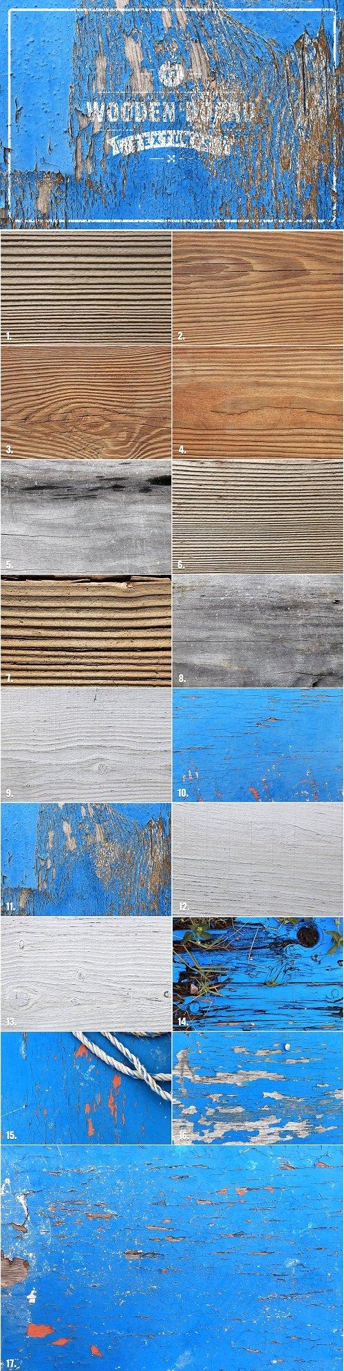 17 Wooden Board Textures - 3348239