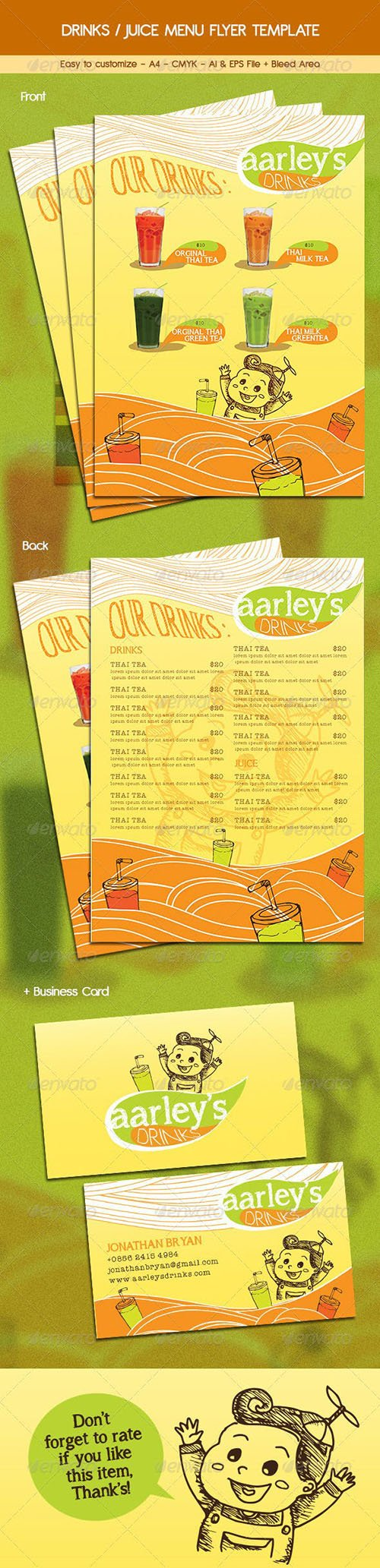 Graphicriver - Drinks / Juice Menu Flyer 6455835