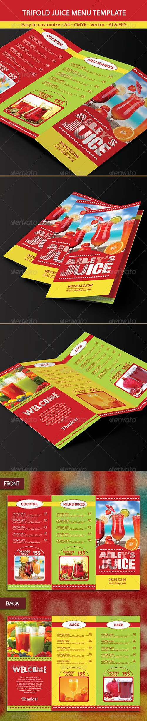 Graphicriver - Trifold Drinks Menu Template 6321530