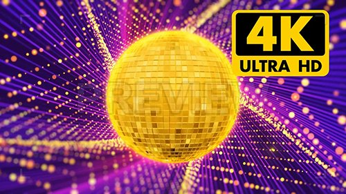 MA - Gold Disco Ball Particles Background 138546