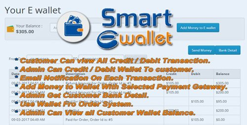 CodeCanyon - Smart E Wallet v1.0 - Opencart Plugin - 19599605