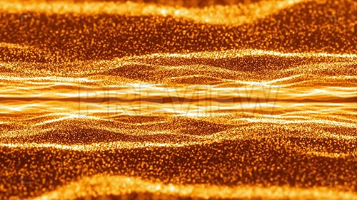 MA - Gold Glowing Particle Waves Background 137741