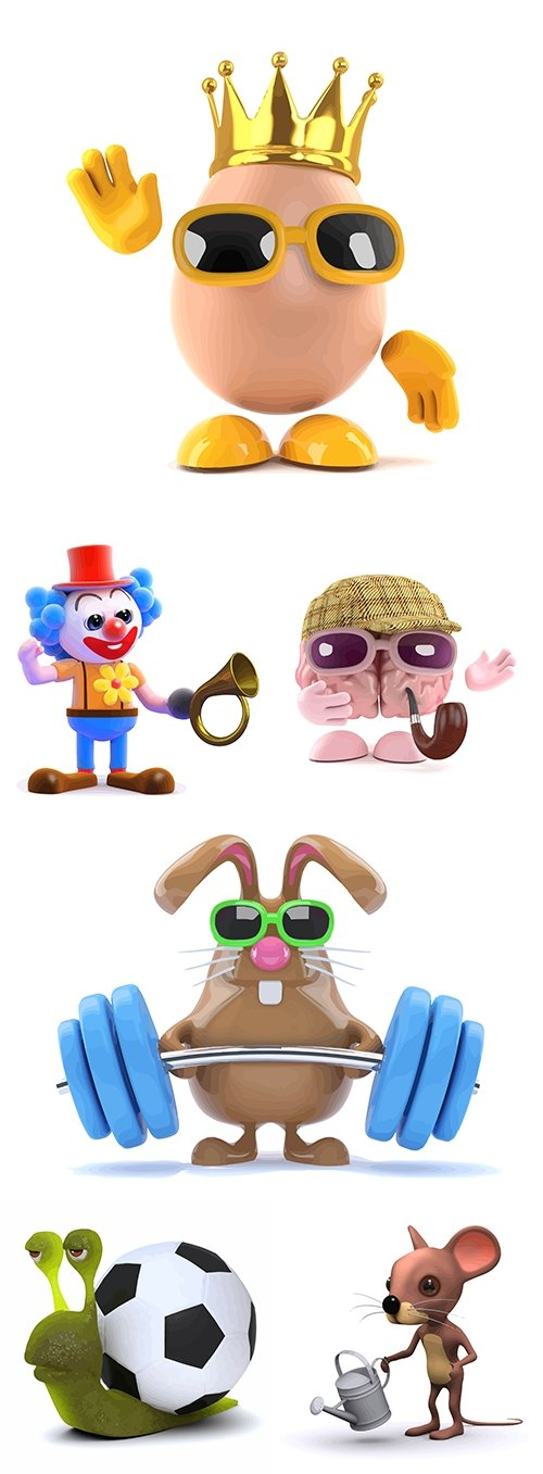 Cartoon characters amusing collection illustrations 5