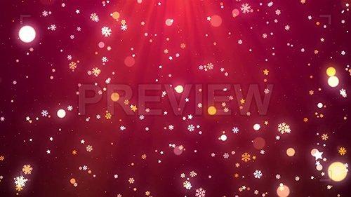 MA - Snowflakes, Stars, Bokeh Christmas Background 144601