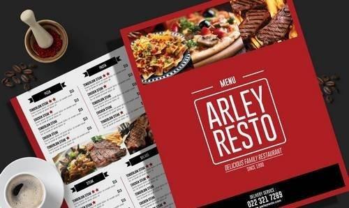 Simple Restaurant Menu Flyer