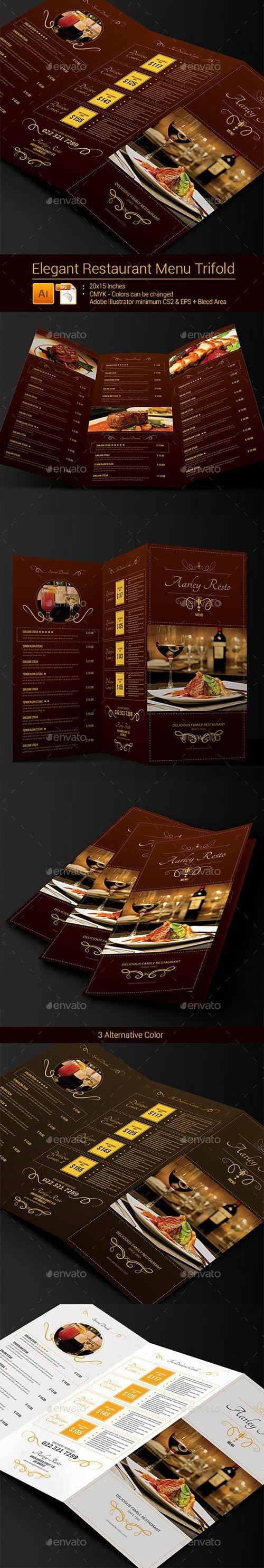Graphicriver - Elegant Restaurant Menu Trifold 9137918
