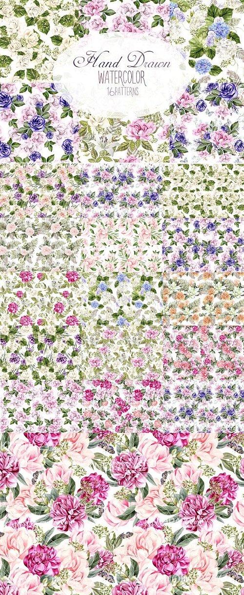 16 Watercolor pattern - 2854302