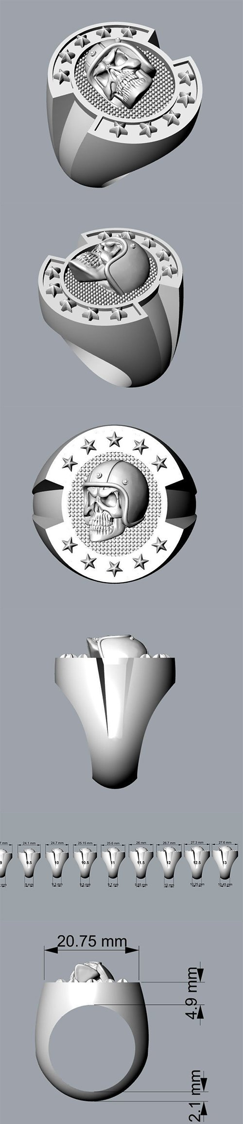 Men rings 06 3D print model