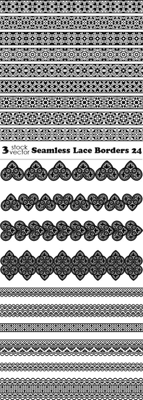Vectors - Seamless Lace Borders 24