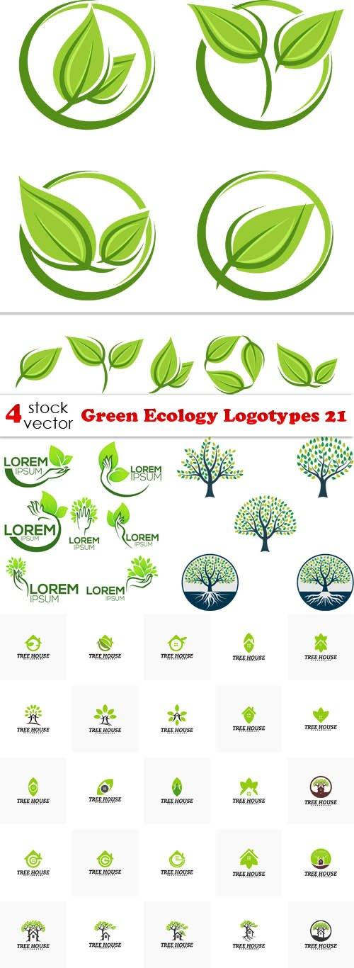 Vectors - Green Ecology Logotypes 21