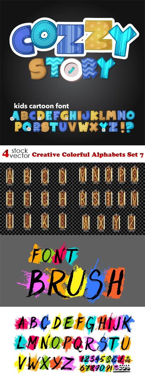 Vectors - Creative Colorful Alphabets Set 7
