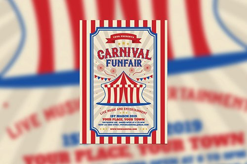 Retro Carnival and Funfair PSD