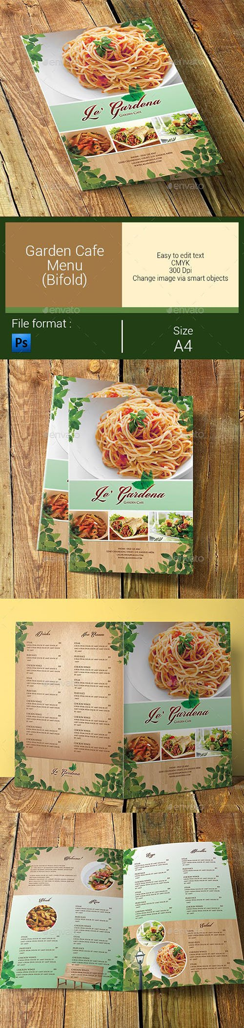 GR - Garden Cafe Menu Bifold 6056468