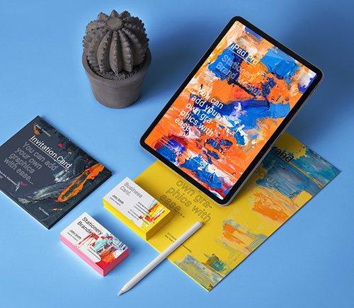 iPad Stationery Branding Mockup