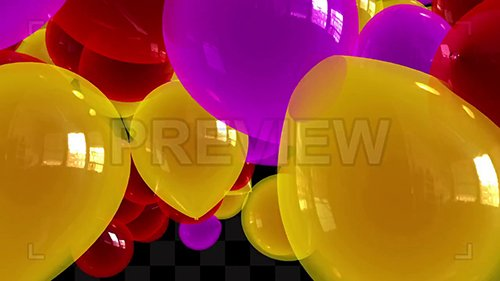 MA - Yellow-Purple Balloons Transitions Pack 135059