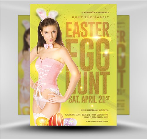 PSD Easter Party Flyer 5B
