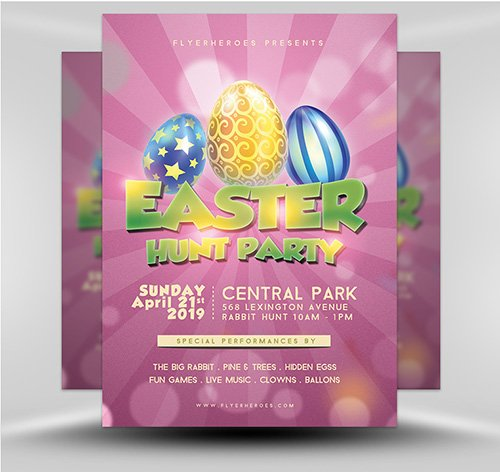 PSD Easter Party Flyer 1B