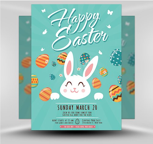 PSD Easter Party Flyer 2B