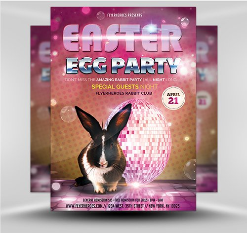 PSD Easter Party Flyer 4B