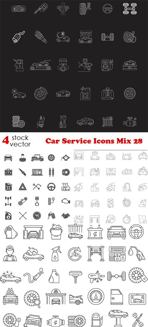 Vectors - Car Service Icons Mix 28