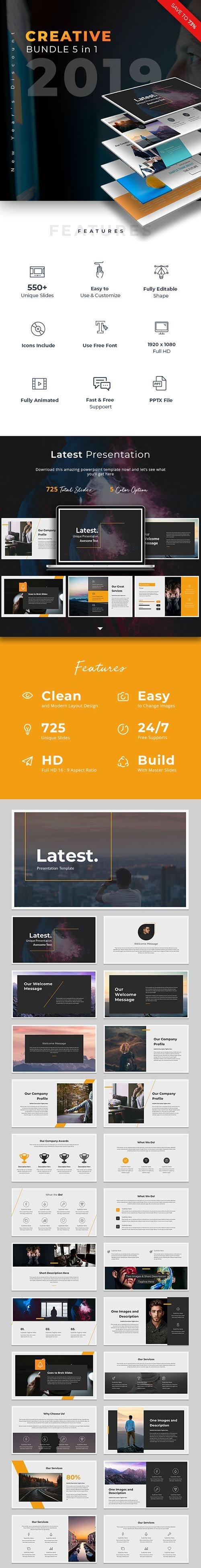 GraphicRiver - Creative Bundle 2019 Powerpoint 23056216