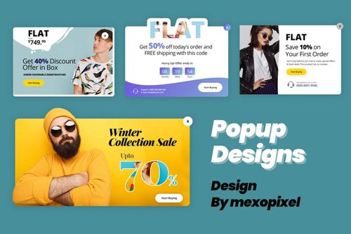 Popup Sales Design Promotion Online Business