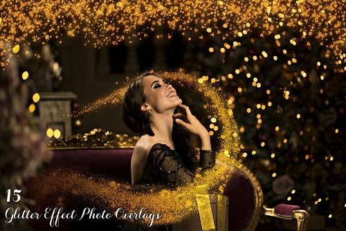 15 Glitter Effect Photo Overlays 3196476