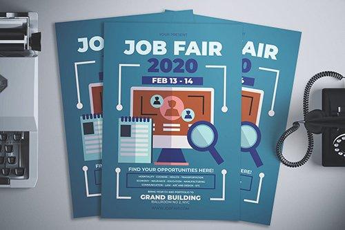 Job Fair Flyer PSD