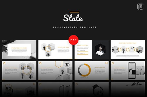 State - Creative Powerpoint, Keynote and Google Slides Templates