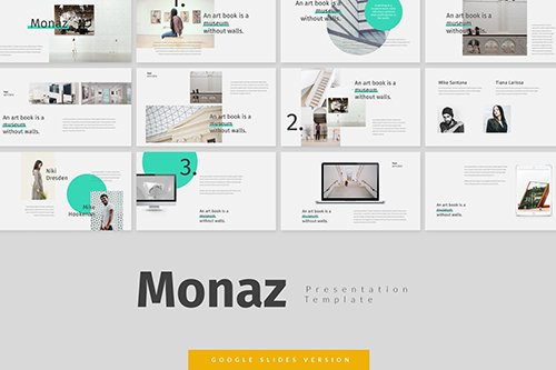 Monaz - Museum Powerpoint, Keynote and Google Slides Templates