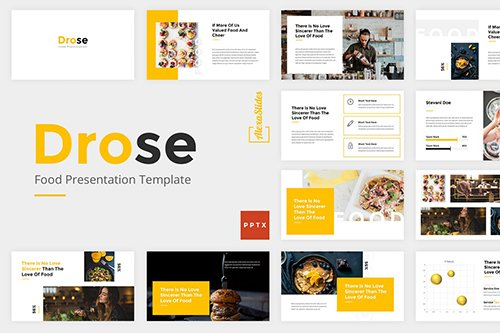 Drose - Food Powerpoint, Keynote and Google Slides Templates