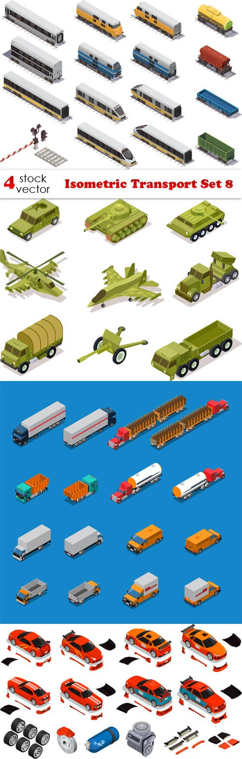 Vectors - Isometric Transport Set 8