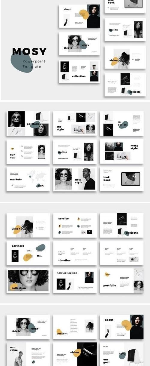 MOSY - Hotel Powerpoint, Keynote, Google Sliders Templates