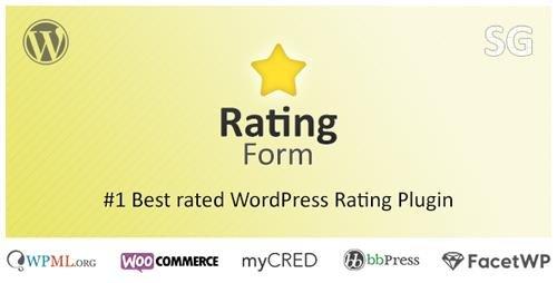 CodeCanyon - Rating Form v1.6.5 - WordPress Rating Plugin - 10357679