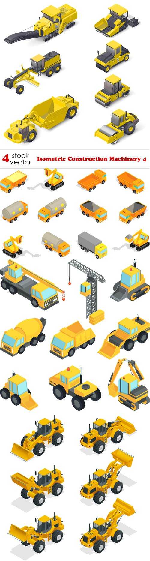 Vectors - Isometric Construction Machinery 4