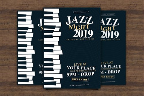 Jazz Night Flyer PSD