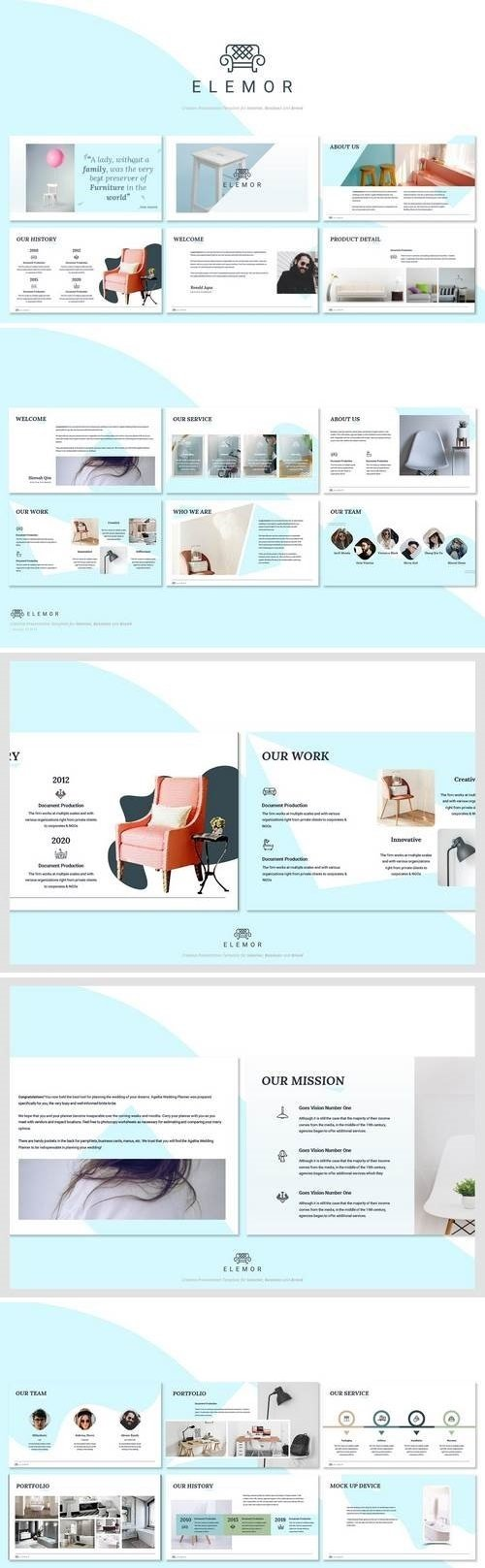 Elemor - Creative Furniture Powerpoint Template