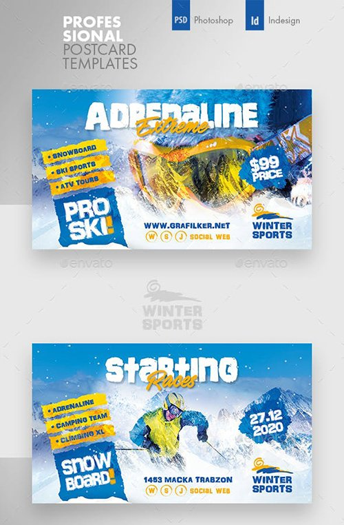 GraphicRiver - Winter Adventure Busines Card Templates 22994222