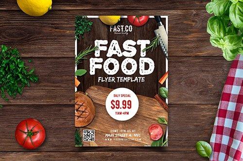 PSD Restaurant Flyer Template