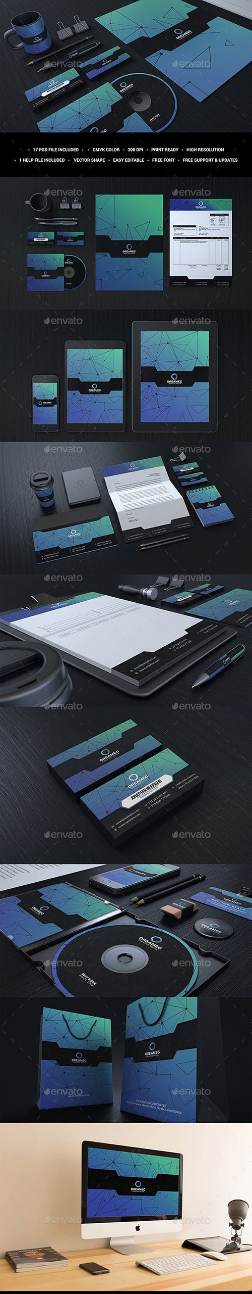 GraphicRiver - Blue Corporate Stationary Identity 22941625