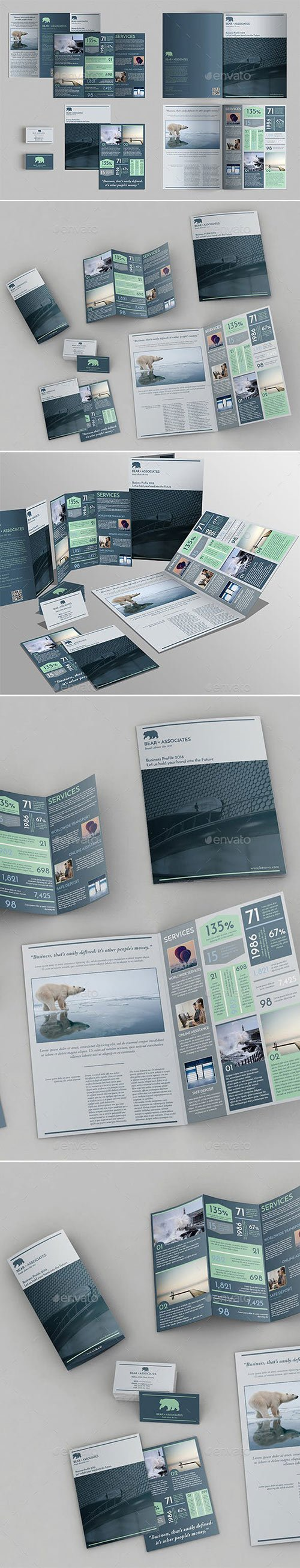 GraphicRiver - Set of Brochures Stationery Templates 23140515