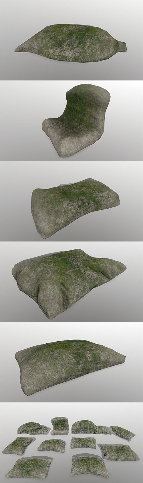 sandbag Low-poly 3D model