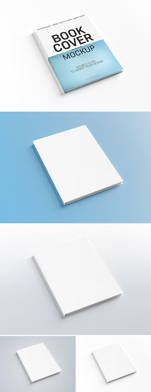 PSDT Hardcover Book Isolated on White Mockup 233467960