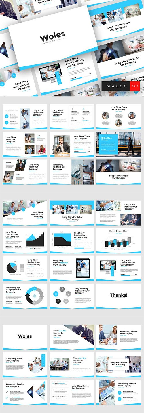 Woles - Business PowerPoint, Keynote and Google Slides Template