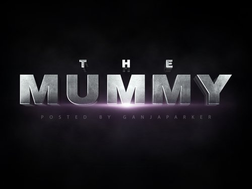 PSD Text Effect - The Mummy Cinematic