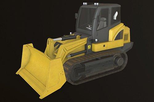 Bulldozer Low-poly 3D model