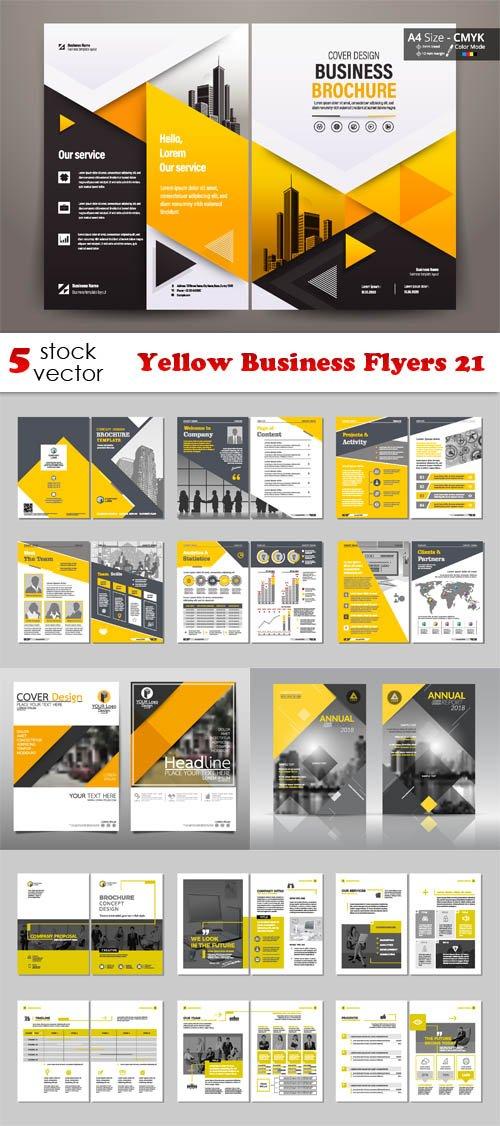 Vectors - Yellow Business Flyers 21