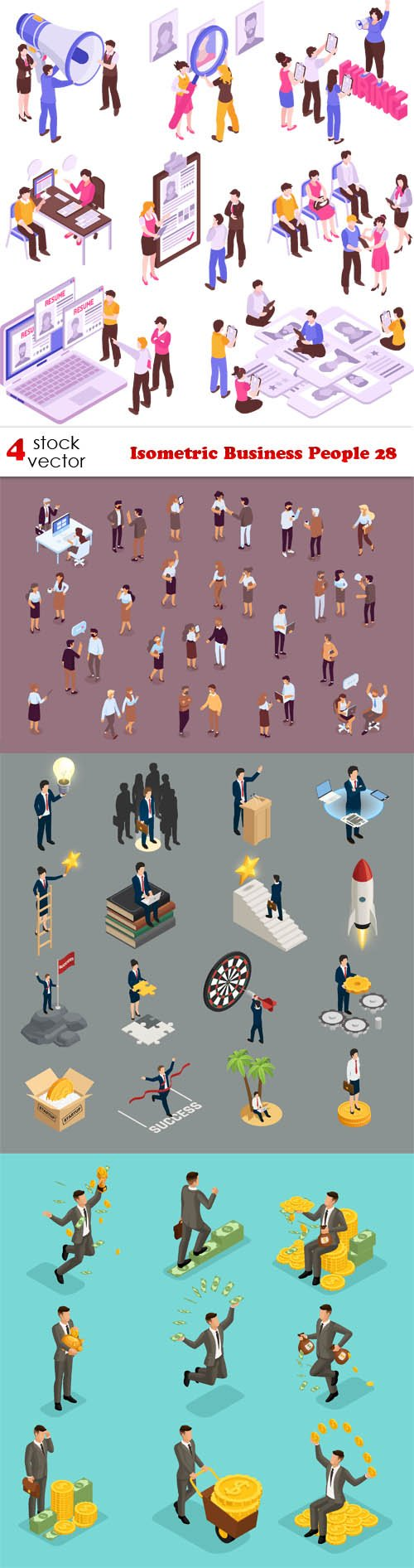 Vectors - Isometric Business People 28